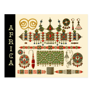 Jewelry of The Kabyle People in Algeria Postcard