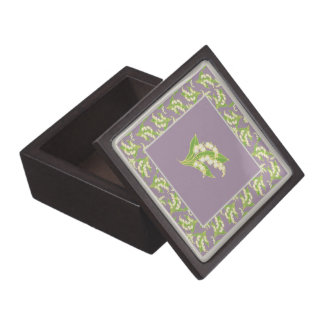 Jewelry or Gift Box: Lily-of-the-Valley: Mauve Premium Gift Boxes