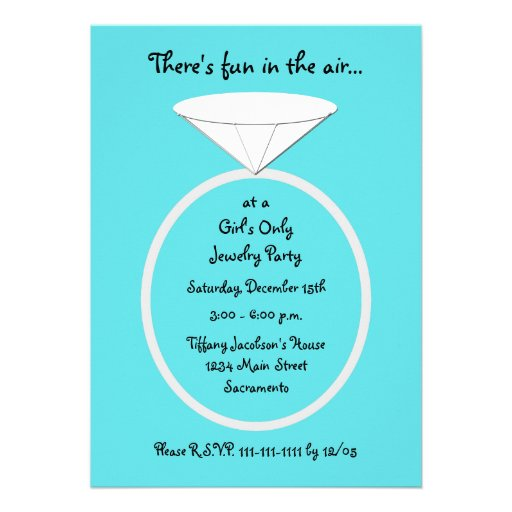 Jewelry Party Invitation can inspire you to create best invitation template