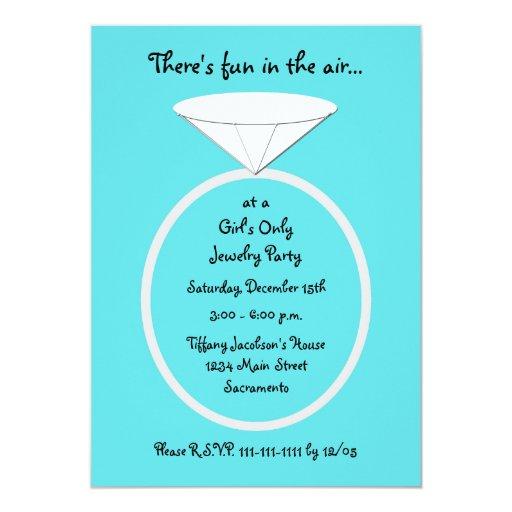 Jewelry party invitation template zazzle for Premier designs invitations