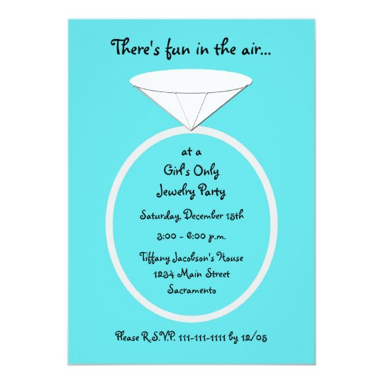 jewelry party invitation template | zazzle, Party invitations