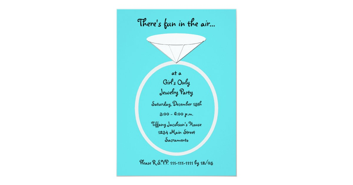 Jewelry Party Invitation Template – Jewelry Party Invite