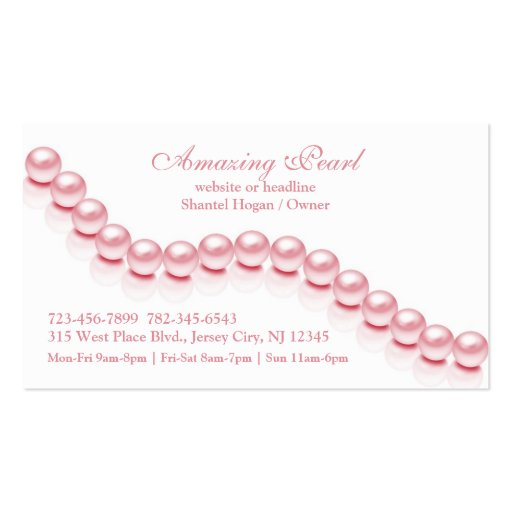 Jewelry Pearl Business Card