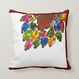Jewelry Pillow Multi Colored Stones Brooch