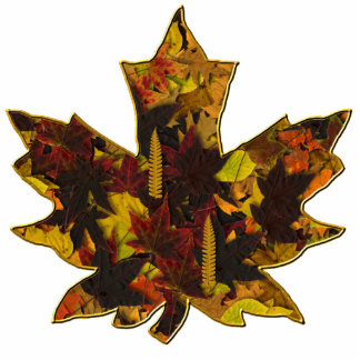 Jewelry - Pin - Autumn Leaves in Gold Statuette