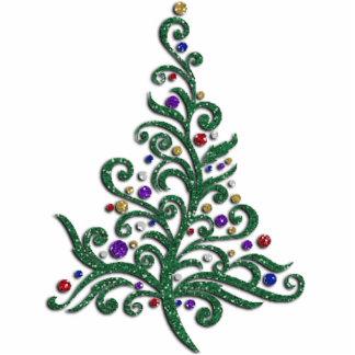 Jewelry - Pin - Green Flourishing Holiday Tree Cutout
