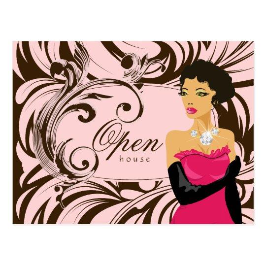 Jewelry Postcard Diamond Woman Salon Spa