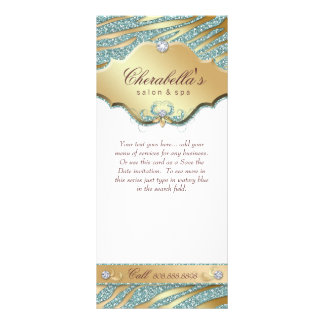 Jewelry Rack Card Teal Gold Sparkle