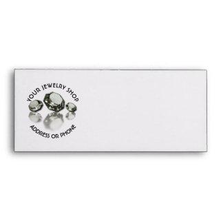 Jewelry Shop Jeweler Three Diamonds On Gold Dust Envelope