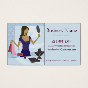 Resale shop gifts on zazzle jewelry shopper business cards reheart Gallery