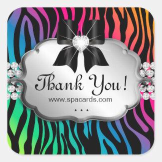 Jewelry Sticker Zebra Rainbow Salon