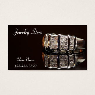 Jewelry Store Diamond Ring Business Card