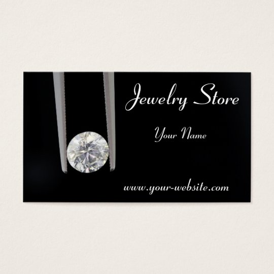Jewelry Store One Carat Diamond Business Card