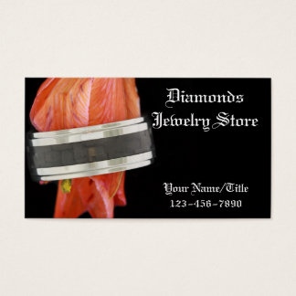Jewelry Store Wedding Ring Business Card