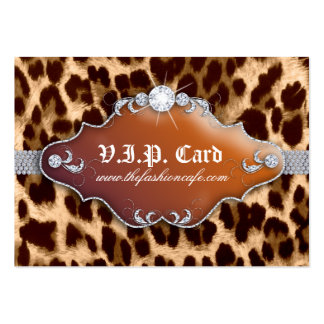 Jewelry Tanning VIP Club Card Leopard Brown Business Card