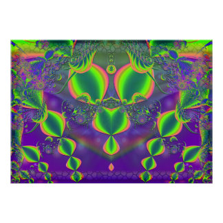 Jewels Abstract Symmetrical Poster