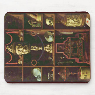Jewels Cabinet By Johann Georg Hainz (Best Quality Mouse Pad