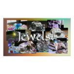 Jewels Collage Posters