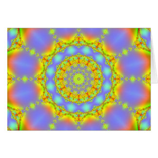 Jewels Fractal Kaleidoscope Card