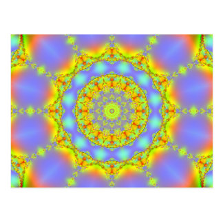 Jewels Fractal Kaleidoscope Post Card