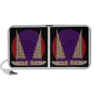 Jewels : Gold n Silver Engraved Art Travelling Speakers