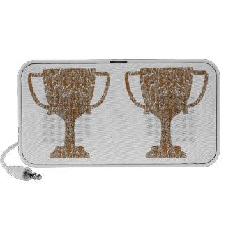 Jewels : Gold n Silver Engraved Art Laptop Speaker