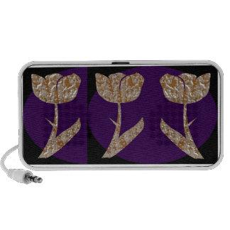 Jewels : Gold n Silver Engraved Art Mini Speaker