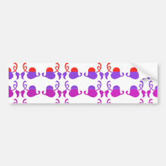Jewels Hedera: Babysoft Color Pattern Bumper Sticker