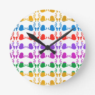 Jewels Hedera: Babysoft Color Pattern Round Clock