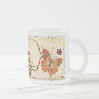 Jewels of Autumn Frosted Glass Coffee Mug