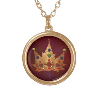 Jewels of Autumn Gold Plated Necklace
