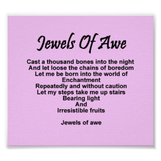Jewels of Awe Poster