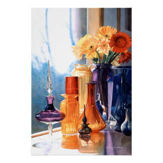 """Jewels of the Czar"" Art Glass Watercolor Poster"