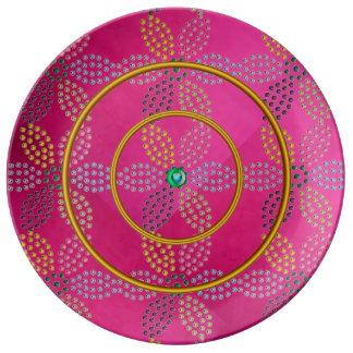Jewels Porcelin Plate Porcelain Plate