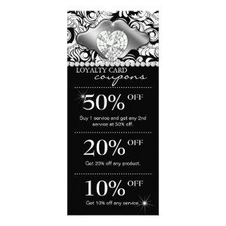Jewels Salon Marketing Cards Damask Silver