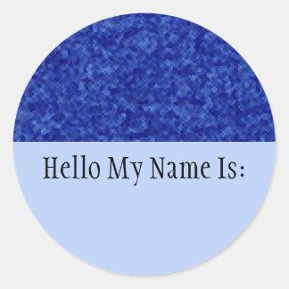 Jewels - Sapphire Name Badge Sticker