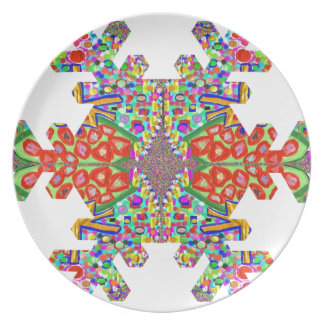 Jewels SnowFlake Shape TEMPLATE Resellers Festival Plate