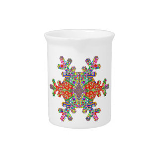 Jewels SnowFlake Shape TEMPLATE Resellers Festival Pitchers