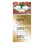 Jewels Spa Christmas Coupon Zebra Gold Red Custom Rack Cards