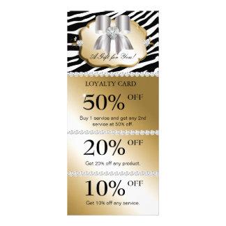 Jewels Spa Marketing Cards Zebra Gold Silver