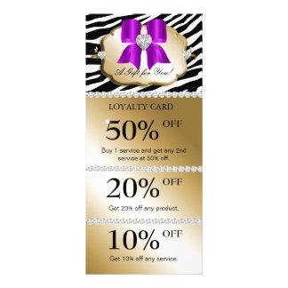 Jewels Spa Marketing Cards Zebra Gold Violet