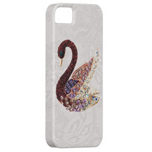 Jewels Swan & Paisley Lace iPhone 5 iPhone 5 Cover