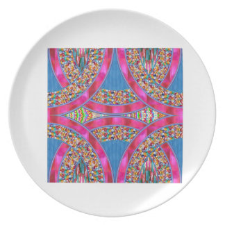 Jewels with PINK Ribbons Party Plate