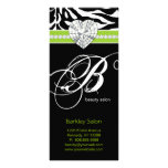 Jewels Zebra Beauty Salon Spa Lime Green Rack Card