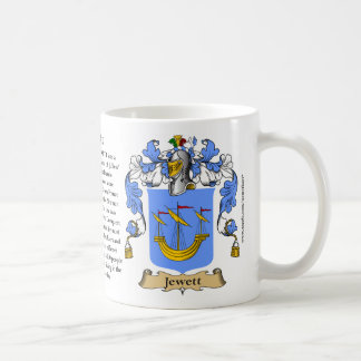 Jewett, the Origin, the Meaning and the Crest Coffee Mug