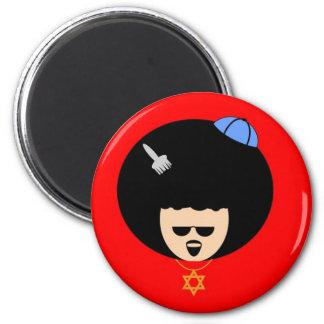 Jewfro 2 Inch Round Magnet