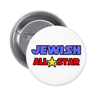 Jewish All Star Pinback Button
