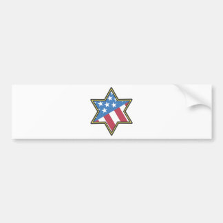 Jewish American Gifts for Hanukkah Bumper Sticker