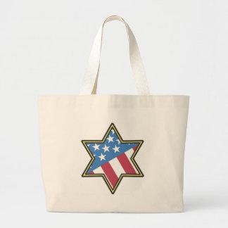 Jewish American Gifts for Hanukkah Large Tote Bag
