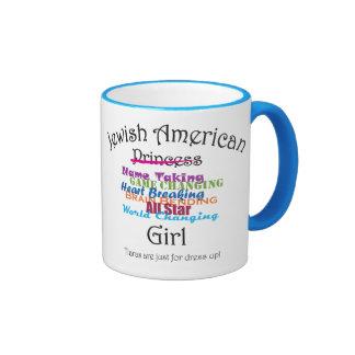 Jewish American Girl Ringer Mug